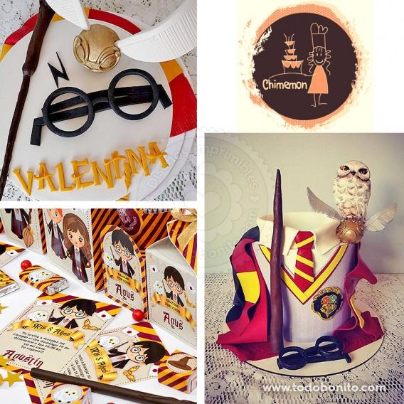 Torta y galletas de Harry Potter