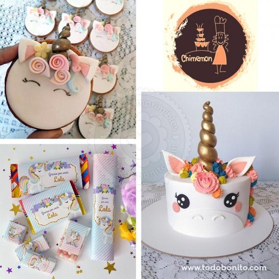 Torta y galletas de Unicornios