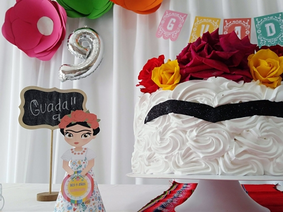 Torta Frida Kahlo por Todo Bonito