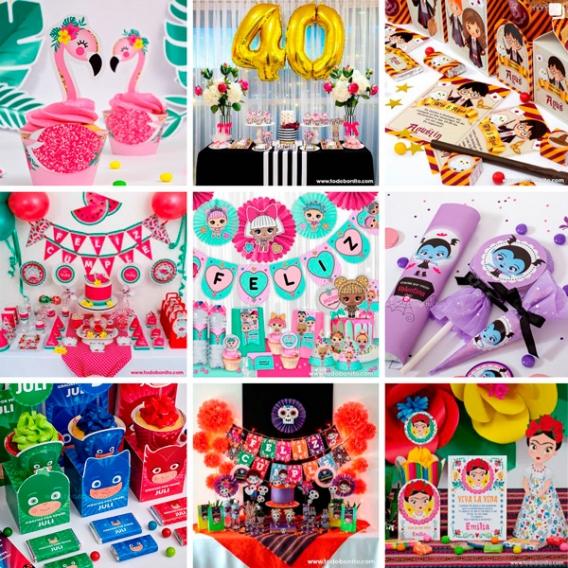 Kits Imprimibles para fiestas de Todo Bonito