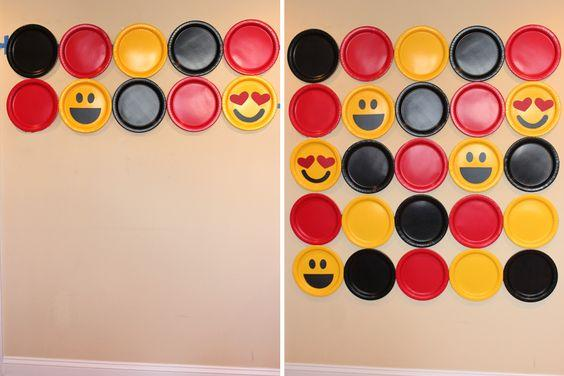 Fondo con platos fiesta Emojis