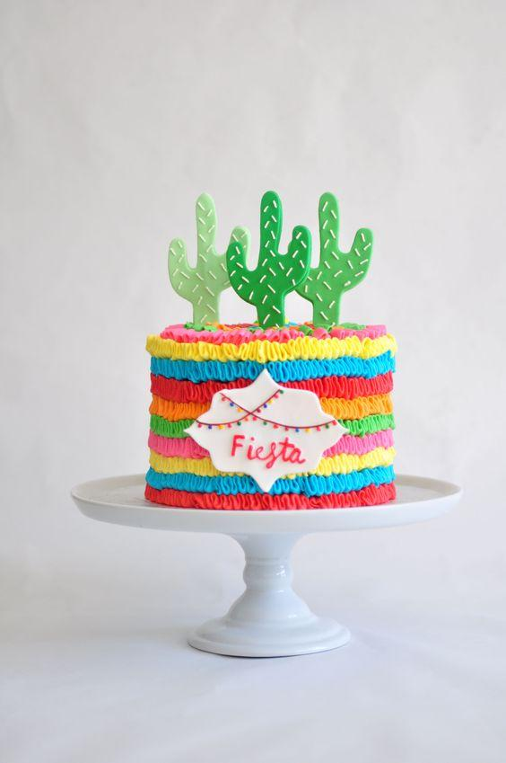 Torta de cactus fiesta