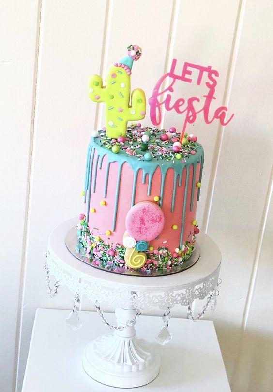 Torta de cactus let´s fiesta