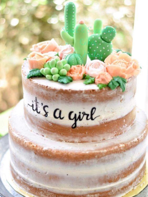 Torta para nena de Cactus