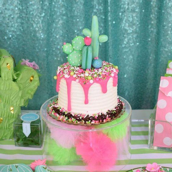Torta de Cactus para cumpleaños