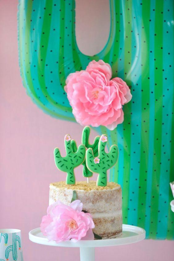 Preciosa Torta de Cactus