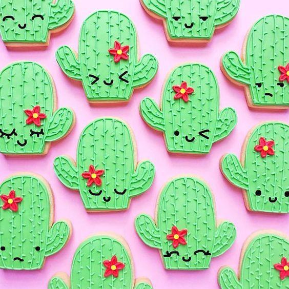Galletas con forma de cactus
