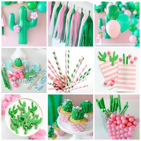 Ideas para una fiesta de cactus