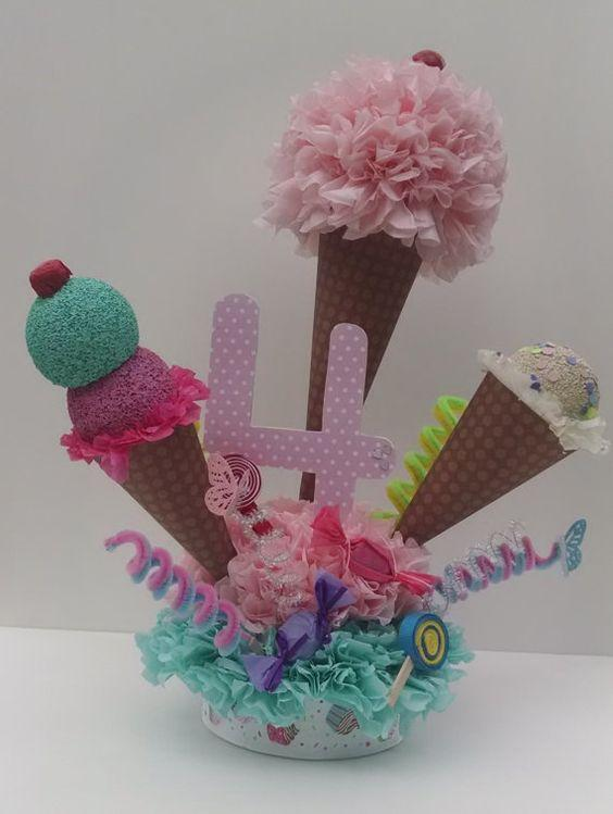 Centro de mesa de helados