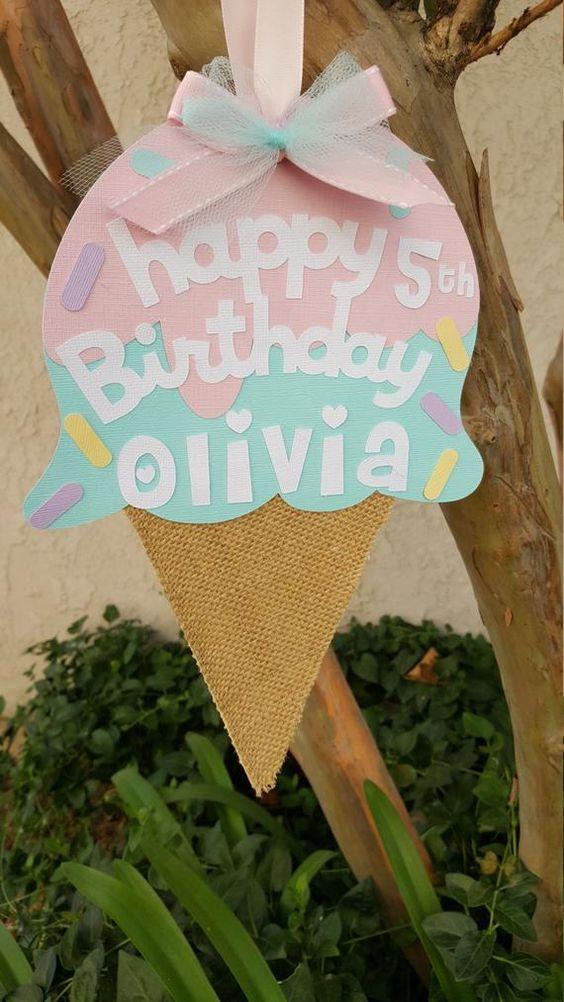Cartel de fiesta de helados