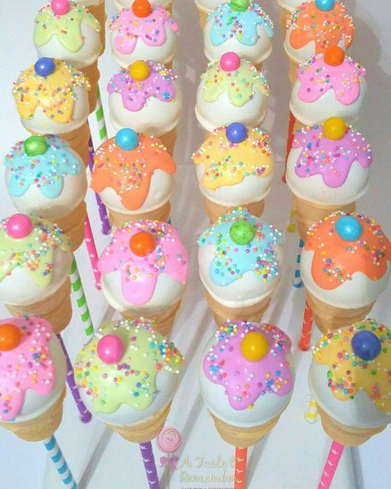 Ideas para mesa dulce fiesta de helados