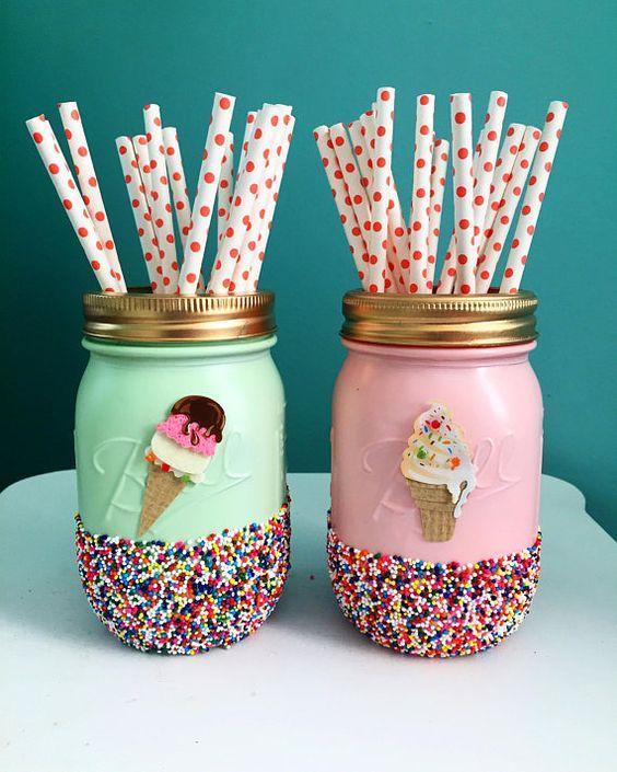 Decoraciones para fiesta de helados