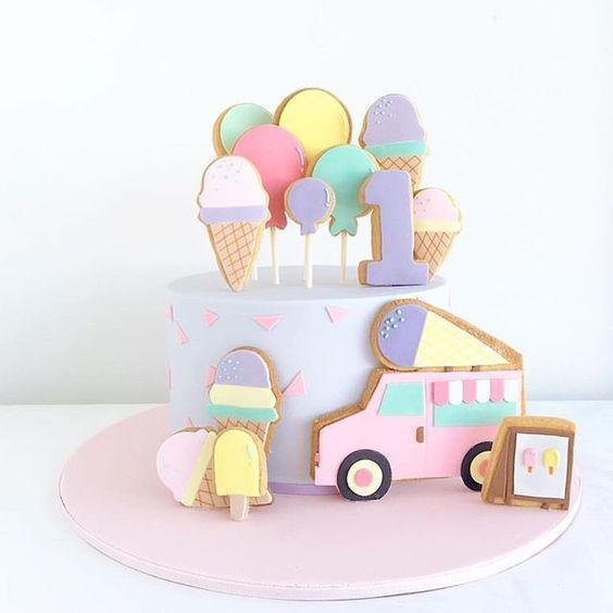 ideas para torta de fiesta de helados