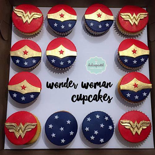 Cupcakes de Mujer Maravilla