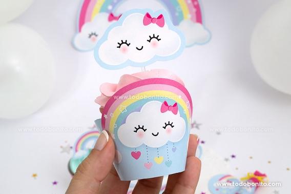 Cupcakes Lluvia de Amor por Todo Bonito