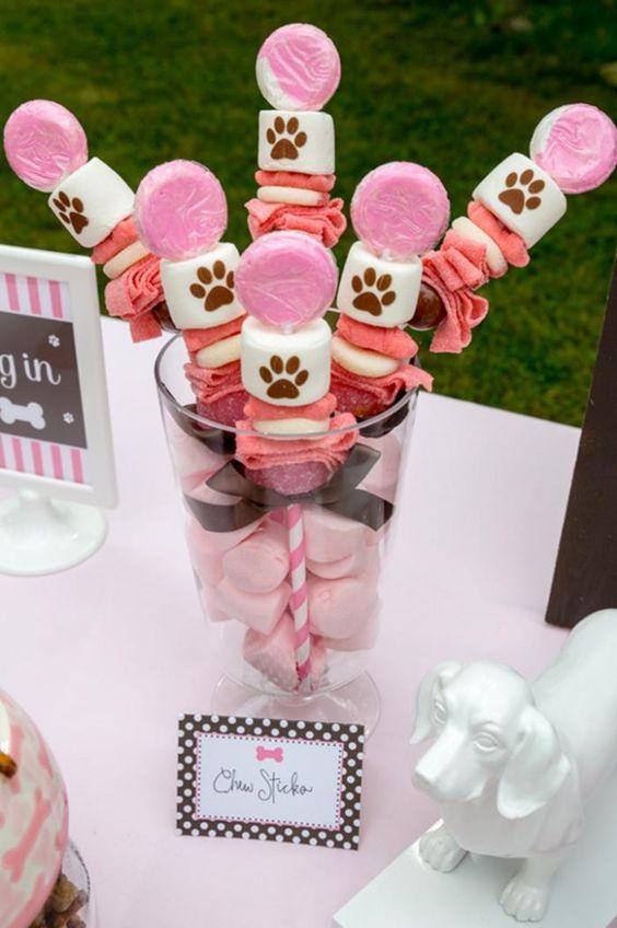 Mesa dulce de Paw Patrol para nenas