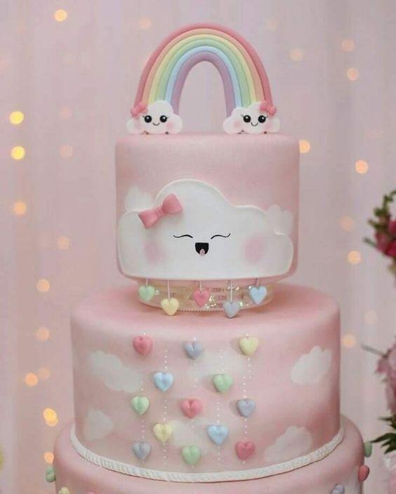 Torta de nena ce lluvia de amor