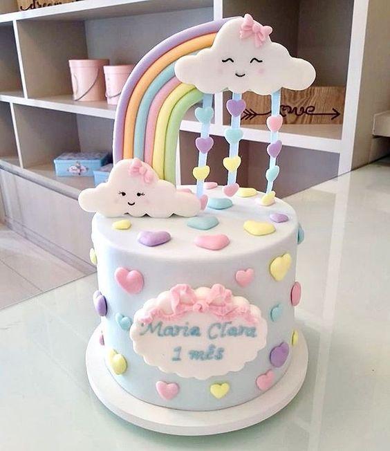 Torta de cumpleaños de Lluvia de amor