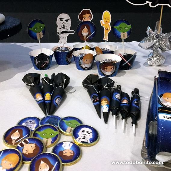Decoraciones imprimibles y de golosinas modelo Star Wars Todo Bonito