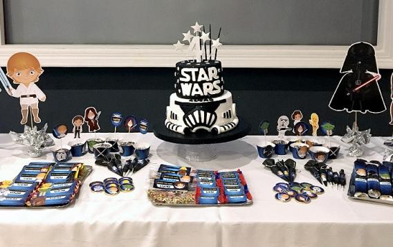 Lucas y su cumple de Star Wars