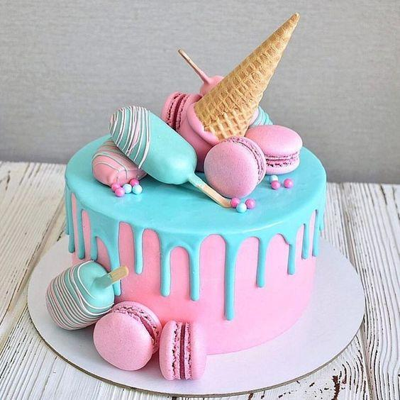 Las más lindas tortas con la temática de Helados