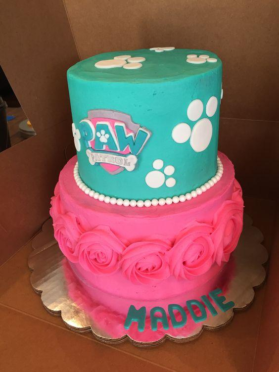 Torta de Paw Patrol para nenas