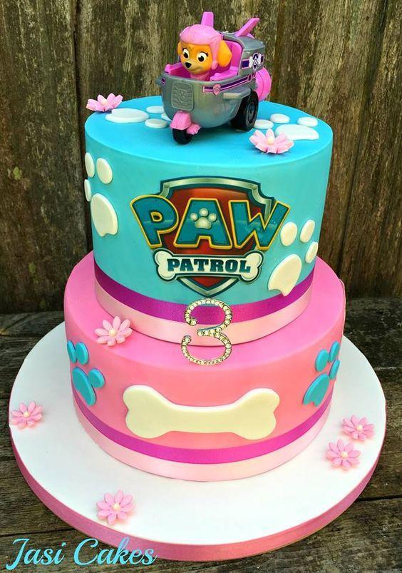 Torta de cumpleaños de Paw Patrol para nenas