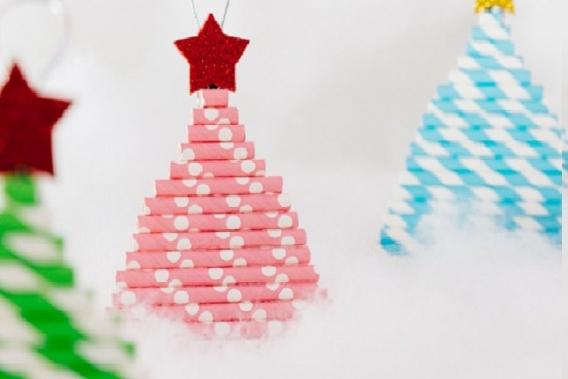 Arbolitos de navidad de sorbetes