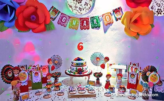 Imprimibles de Frida para la fiesta de Charo