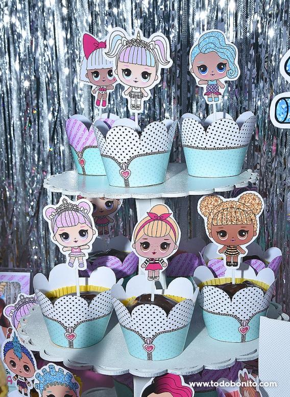 Cupcakes decorados LOL Surprise