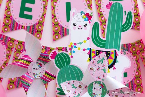 Decoraciones de Llamas o Alpacas para imprimir
