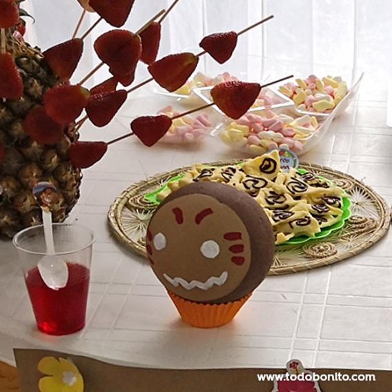 Mesa dulce de Moana con kakamoras