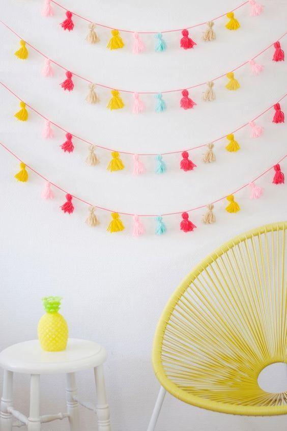 Borlas de lana para decorar paredes