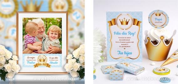 Kits imprimibles día del padre modelo CORONA DE REY