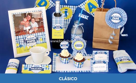 Kits imprimibles día del padre modelo CLÁSICO
