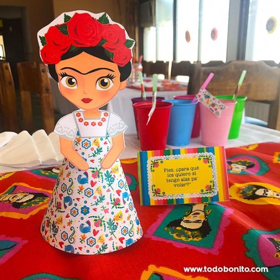 Figura de Frida Kahlo para imprimir