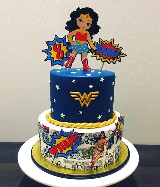 Torta de la Mujer Maravilla cómic
