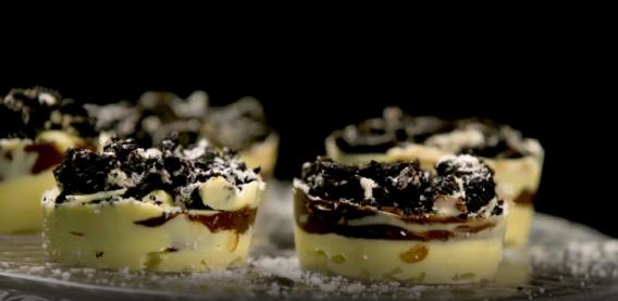 Bombones caseros de chocolate blanco, Nutella y Oreo