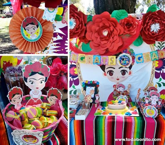 Kits imprimibles de Frida Kahlo para graduación