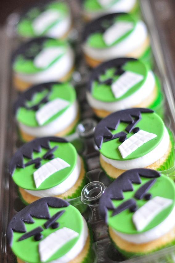 Cupcakes de Hulk