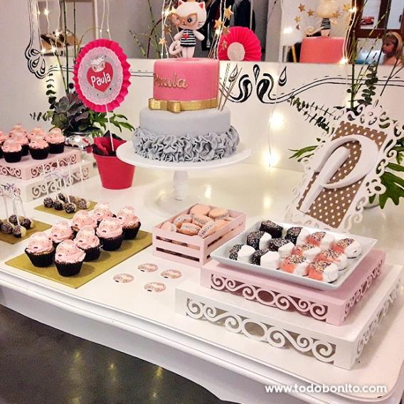 Mesa dulce de gatita princesa por Todo Bonito