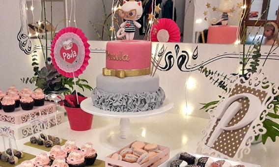 Gatita princesa cool para el cumpleaños de Pauli