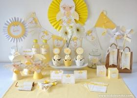 Kits imprimibles Shabby Chic en amarillo