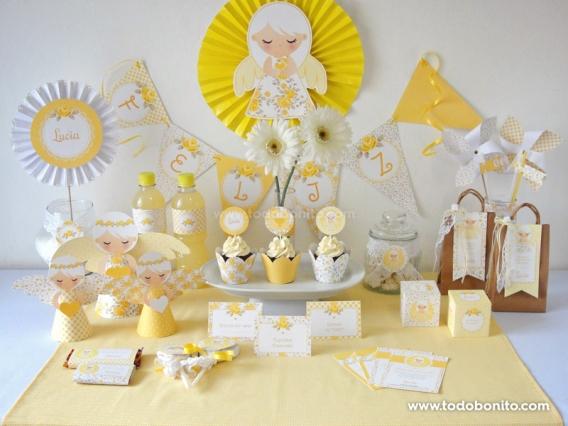 Kit decoración Shabby Chic amarillo