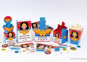 Kits imprimibles de la Mujer Maravilla