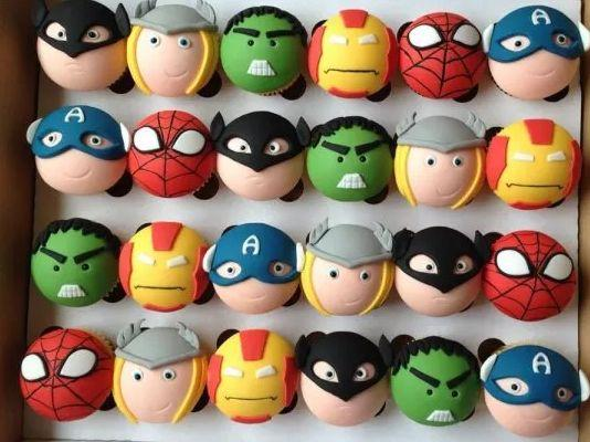 Cupcakes de Avengers