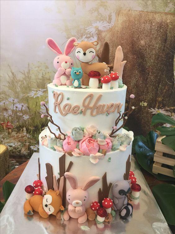 Torta de Animalitos del Bosque