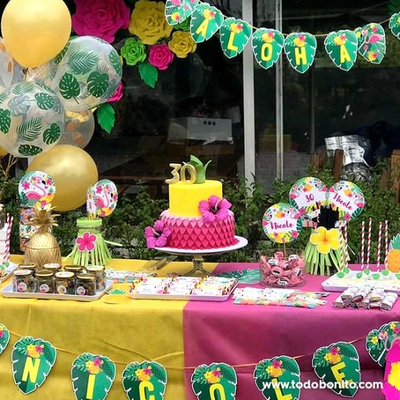 Fiesta de flamencos y ananá