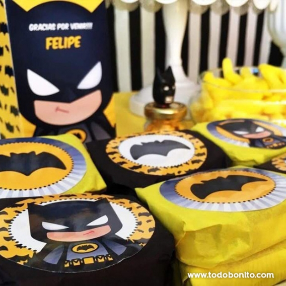Golosinas decoradas Kit imprimible Batman Todo Bonito