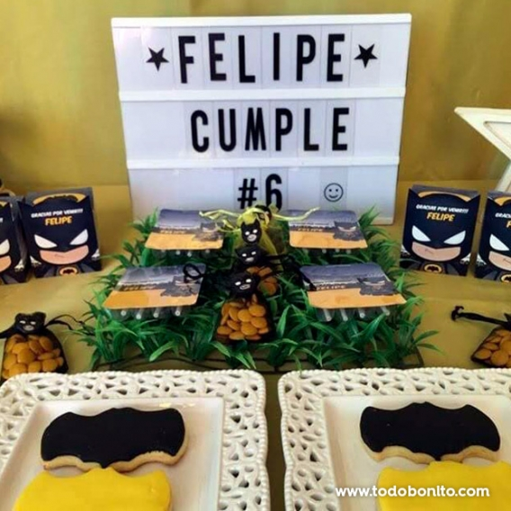 Golosinas decoradas cumpleaños Kit Batman Todo Bonito